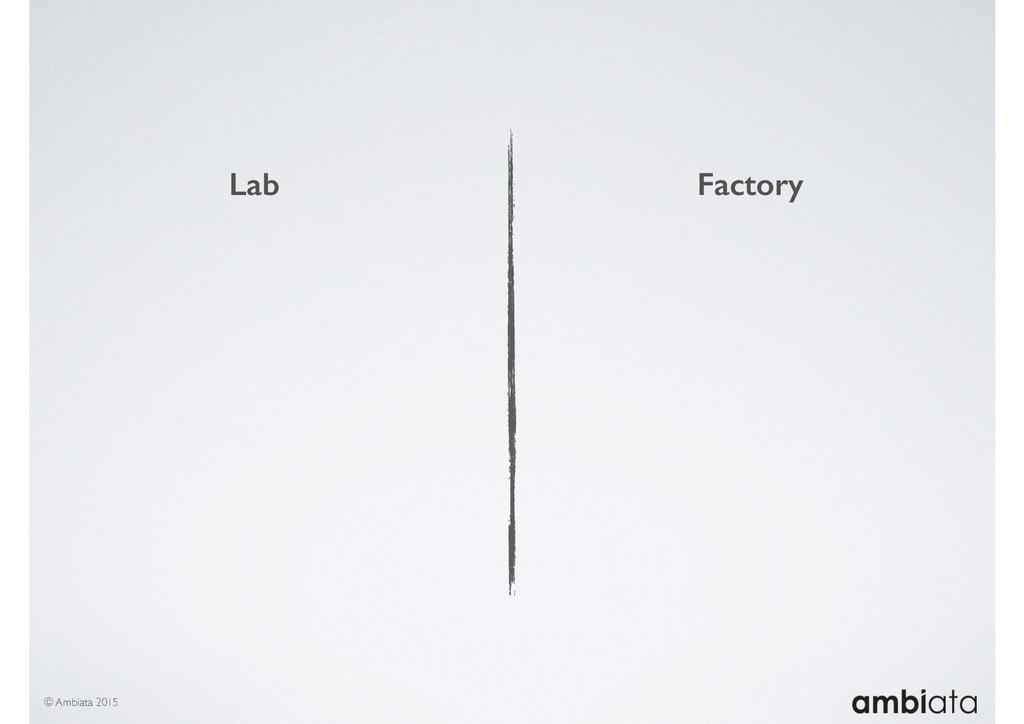 © Ambiata 2015 Lab Factory