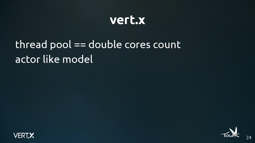 vert.x 24 thread pool == double cores count act...