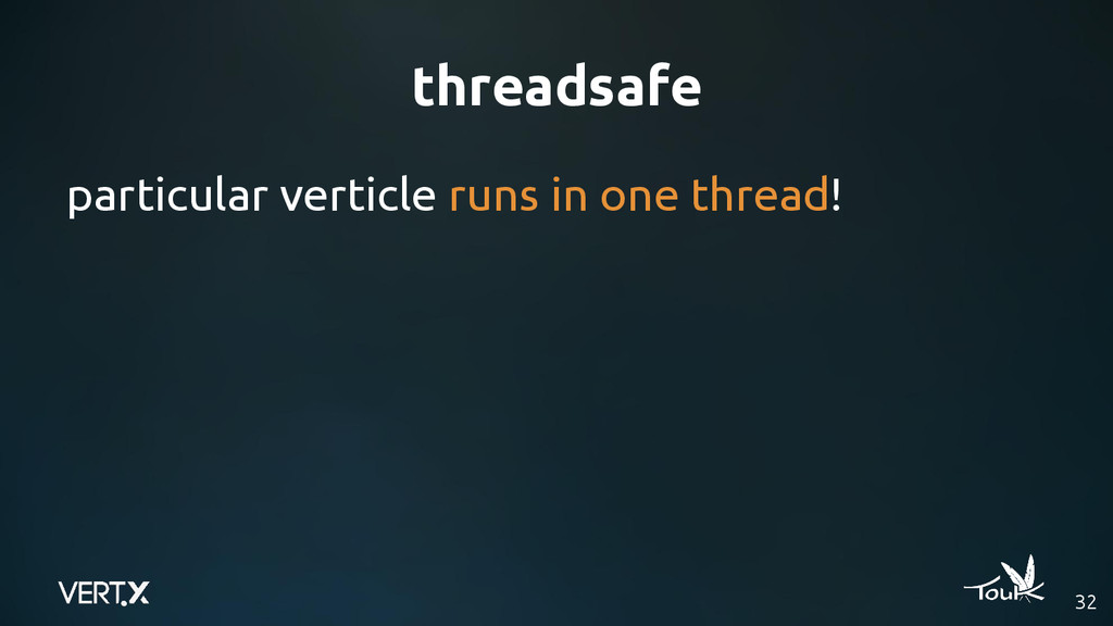 threadsafe particular verticle runs in one thre...