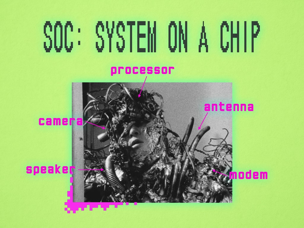 SoC: System on a Chip processor modem antenna c...
