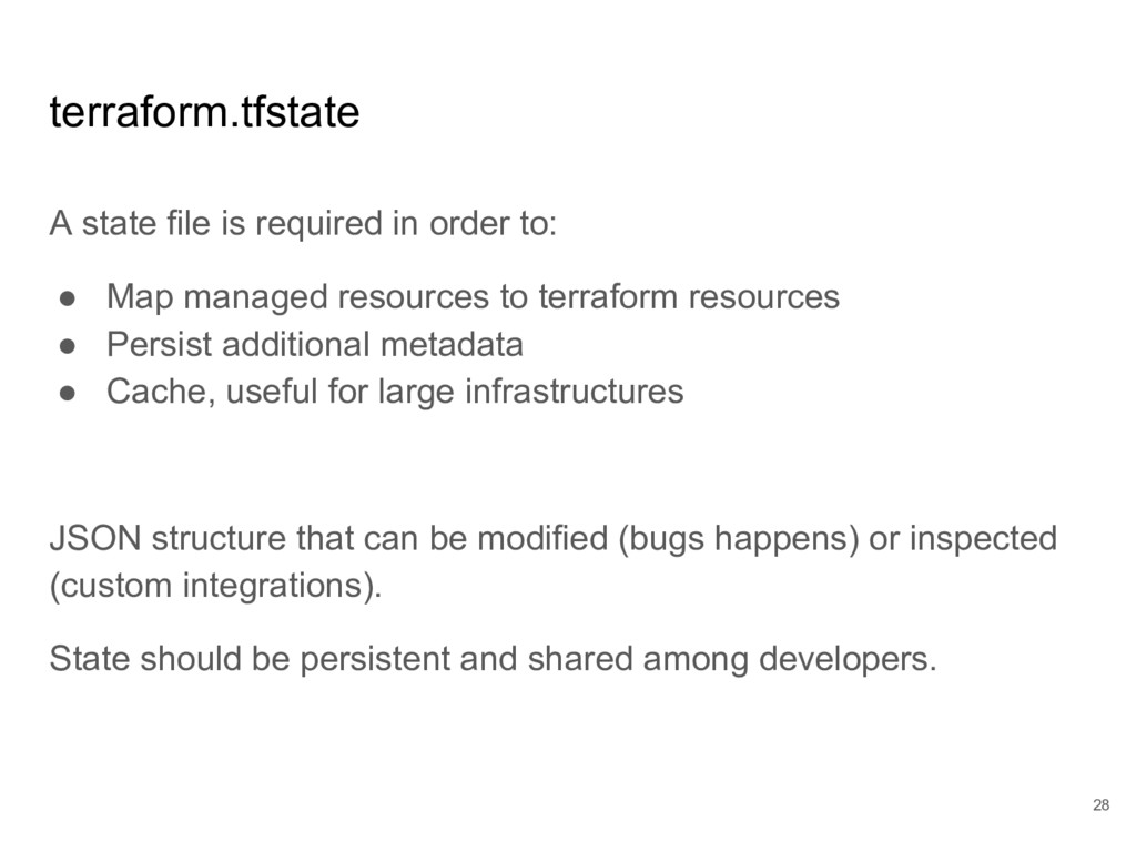 terraform.tfstate A state file is required in o...