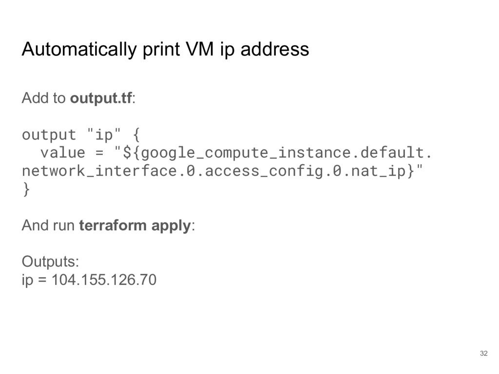 Automatically print VM ip address Add to output...
