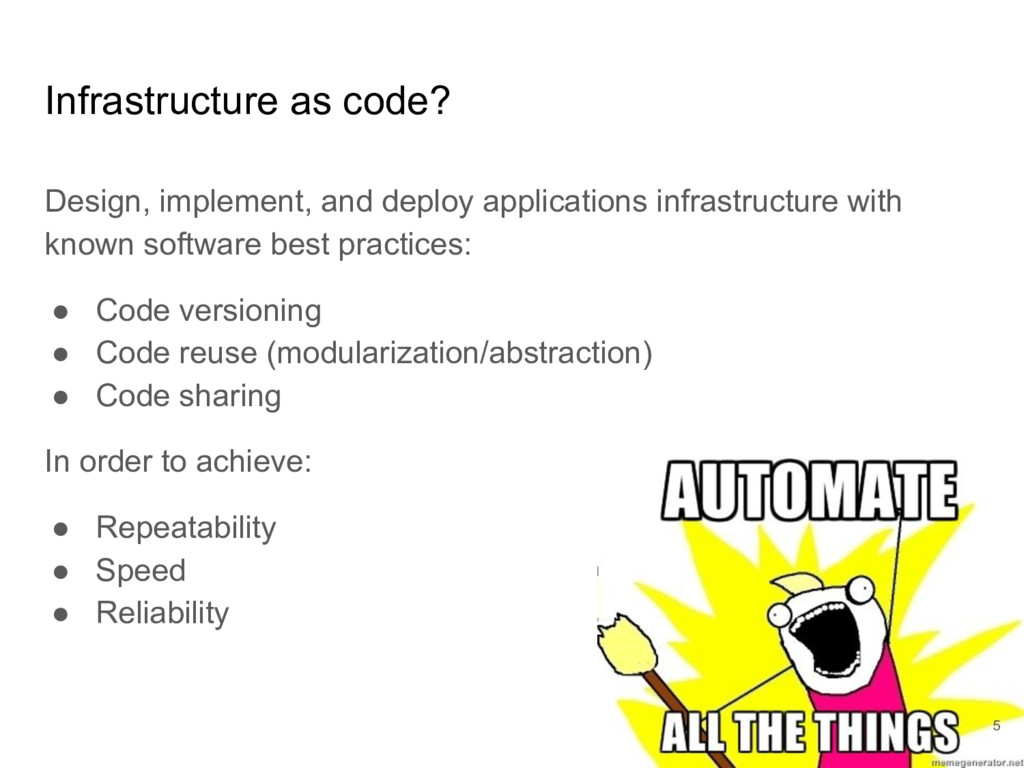 Infrastructure as code? Design, implement, and ...
