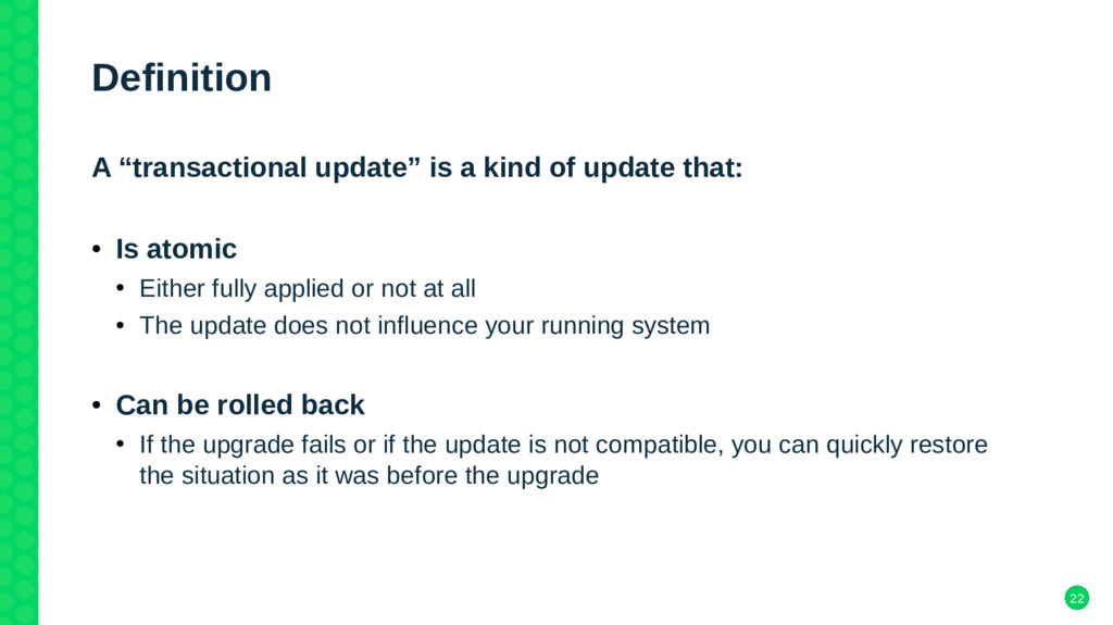 """22 Definition A """"transactional update"""" is a kin..."""