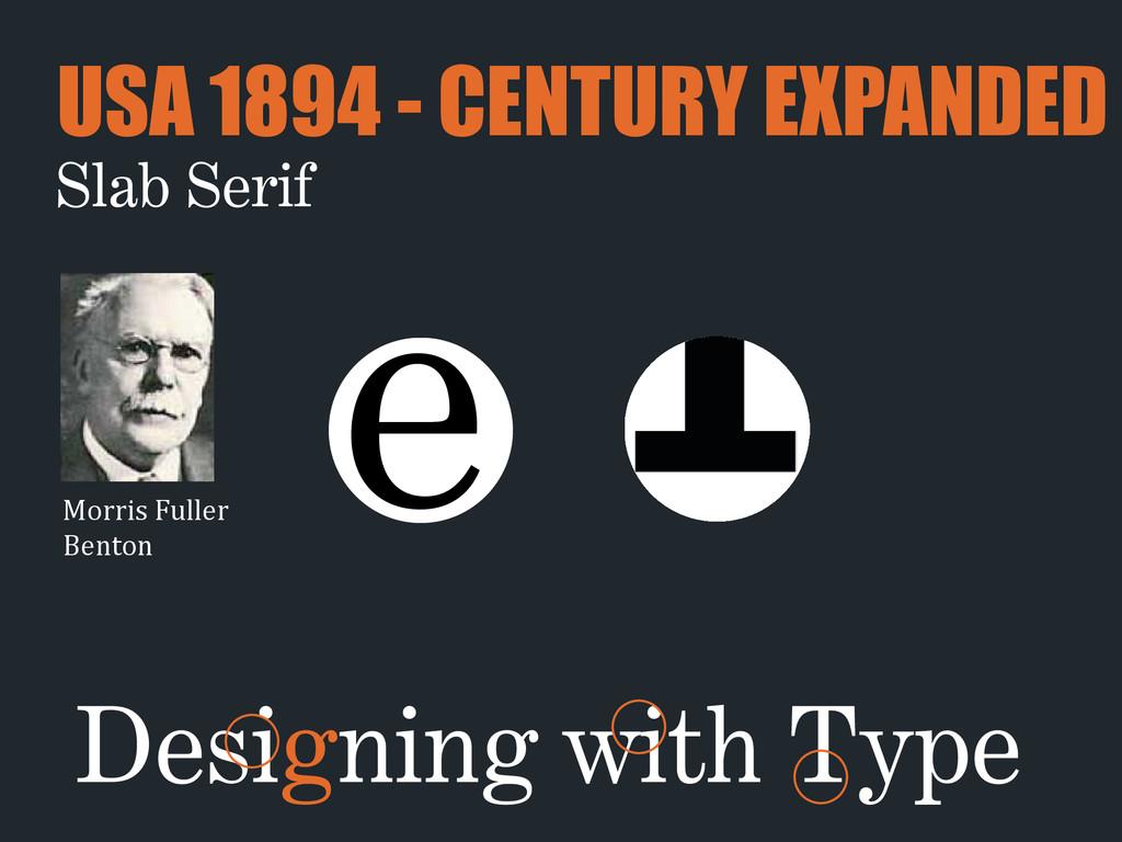 Morris Fuller  Benton e Slab Serif USA 18...