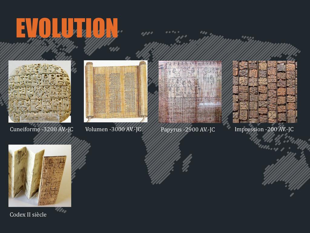 EVOLUTION Cuneiforme -‐3200 AV.-‐JC Pap...