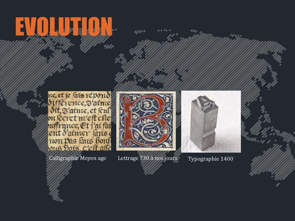 EVOLUTION Calligraphie Moyen age Typograp...