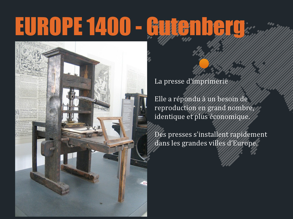 EUROPE 1400 - Gutenberg La presse d'impri...