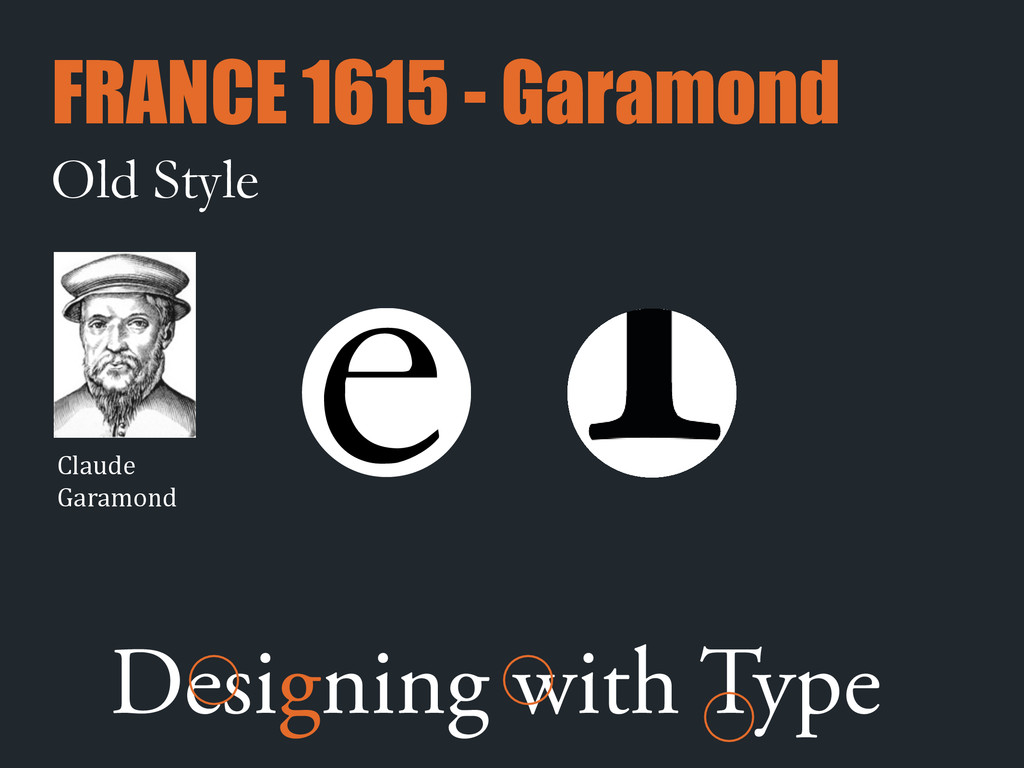 Old Style e Designing with Type FRANCE 1615 - G...