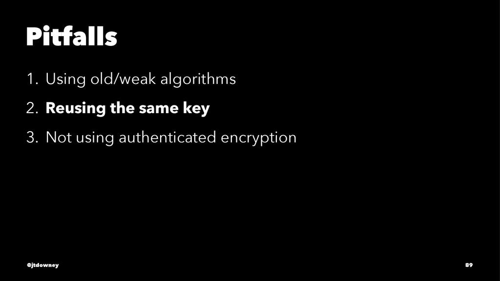 Pitfalls 1. Using old/weak algorithms 2. Reusin...