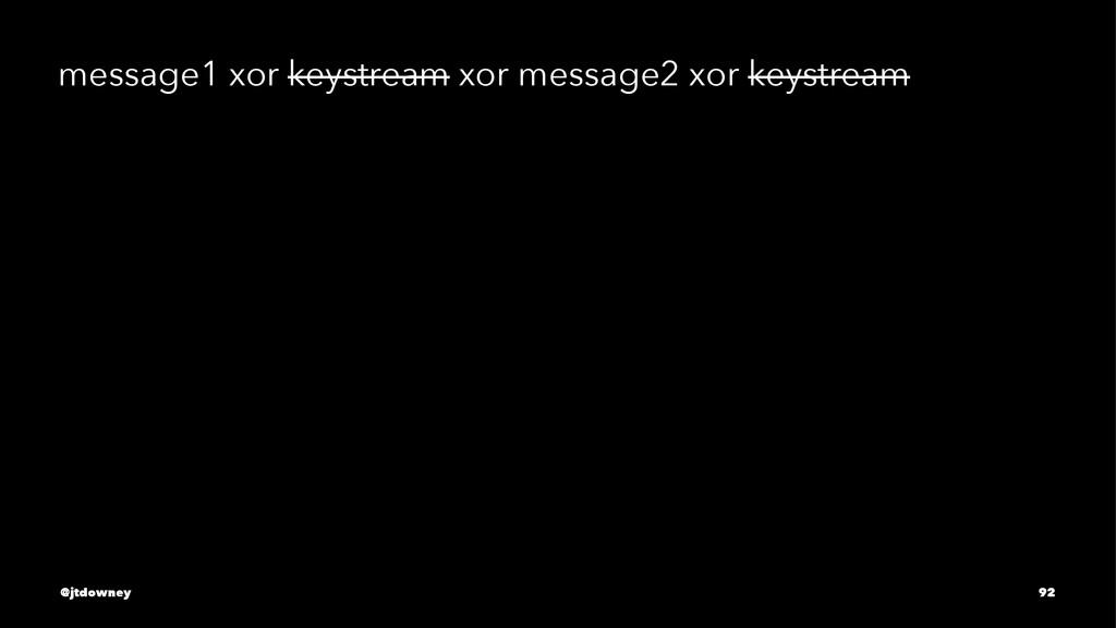 message1 xor keystream xor message2 xor keystre...