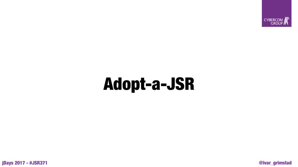 @ivar_grimstad jDays 2017 - #JSR371 Adopt-a-JSR