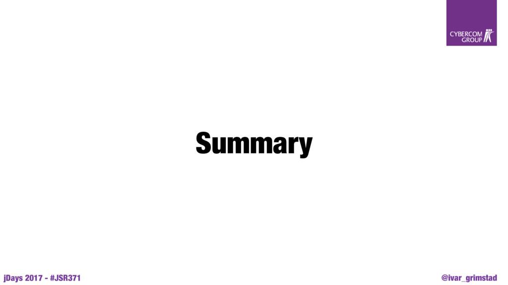 @ivar_grimstad jDays 2017 - #JSR371 Summary