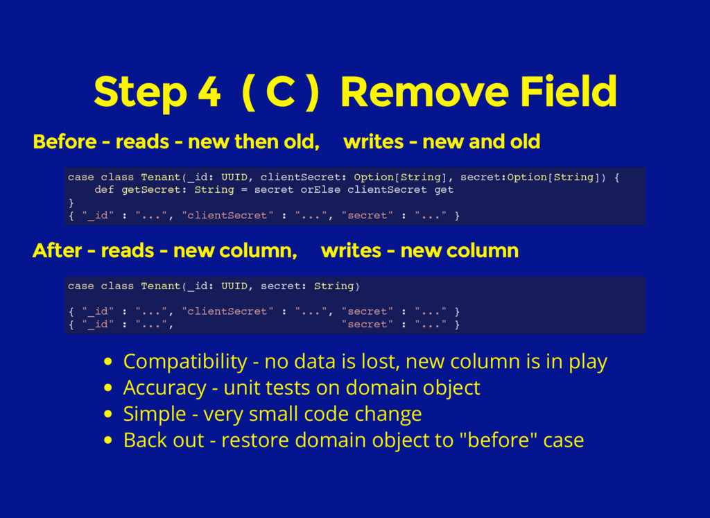 Step 4 ( C ) Remove Field Before - reads - new ...