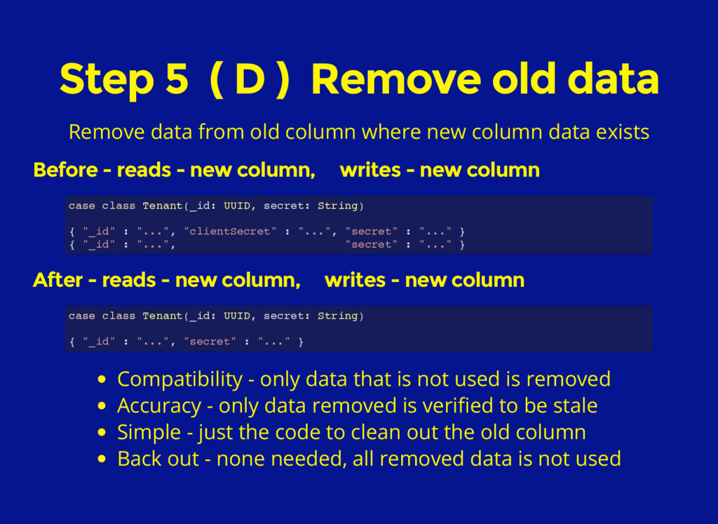 Step 5 ( D ) Remove old data Remove data from o...