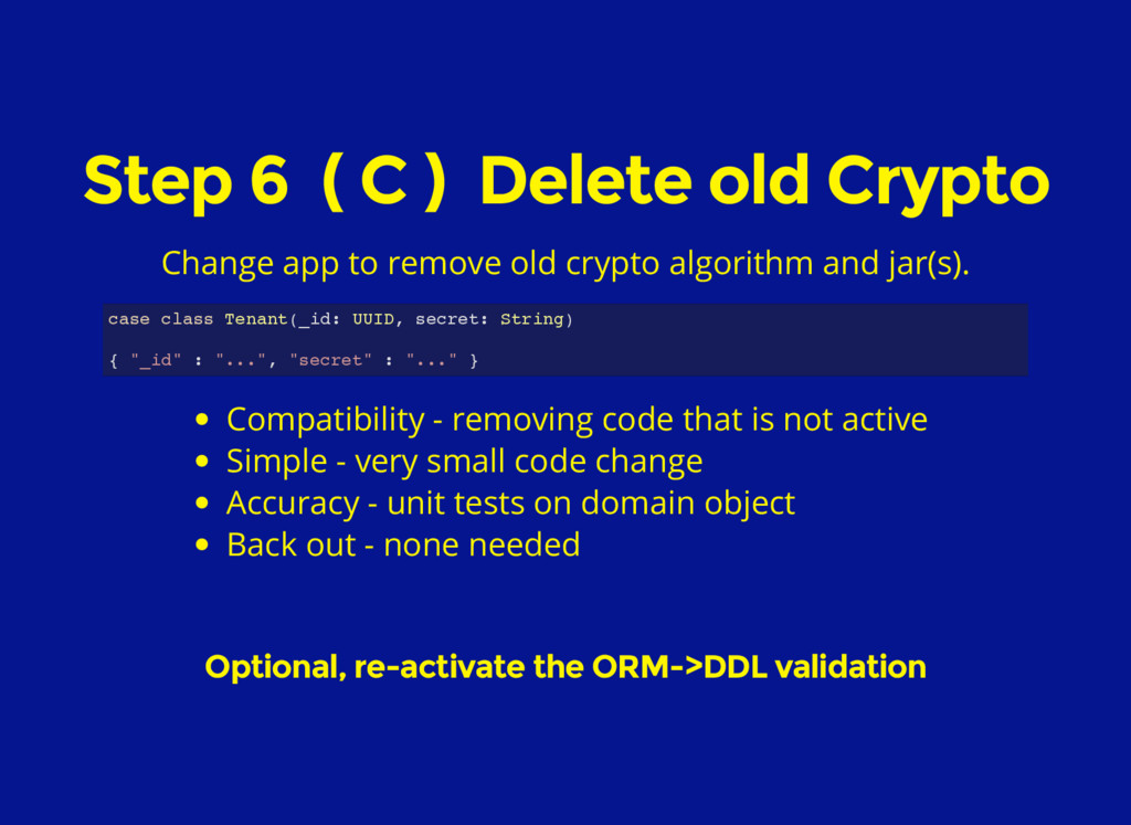 Step 6 ( C ) Delete old Crypto Change app to re...