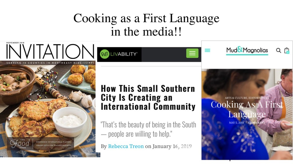 Cooking as a First Language in the media!!