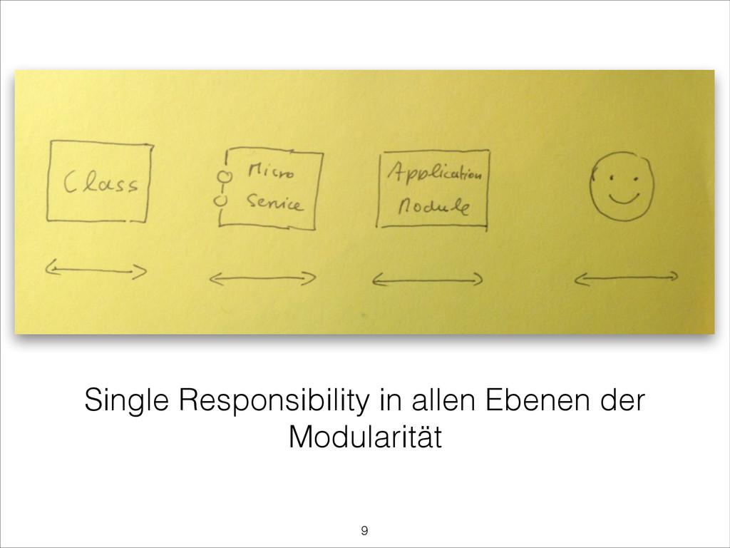 Single Responsibility in allen Ebenen der Modul...