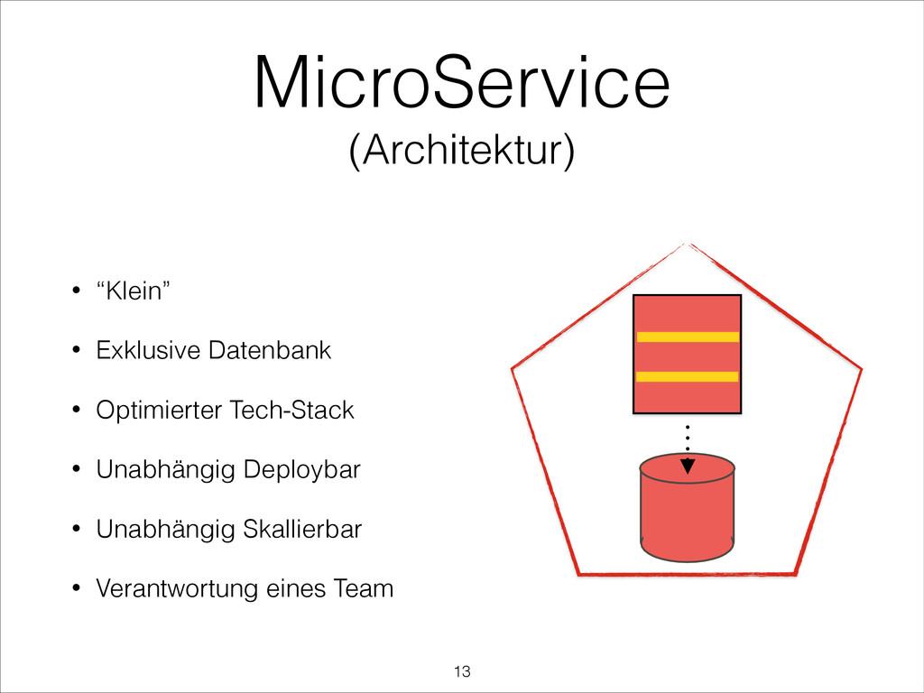 "MicroService (Architektur) ! • ""Klein"" • Exklus..."