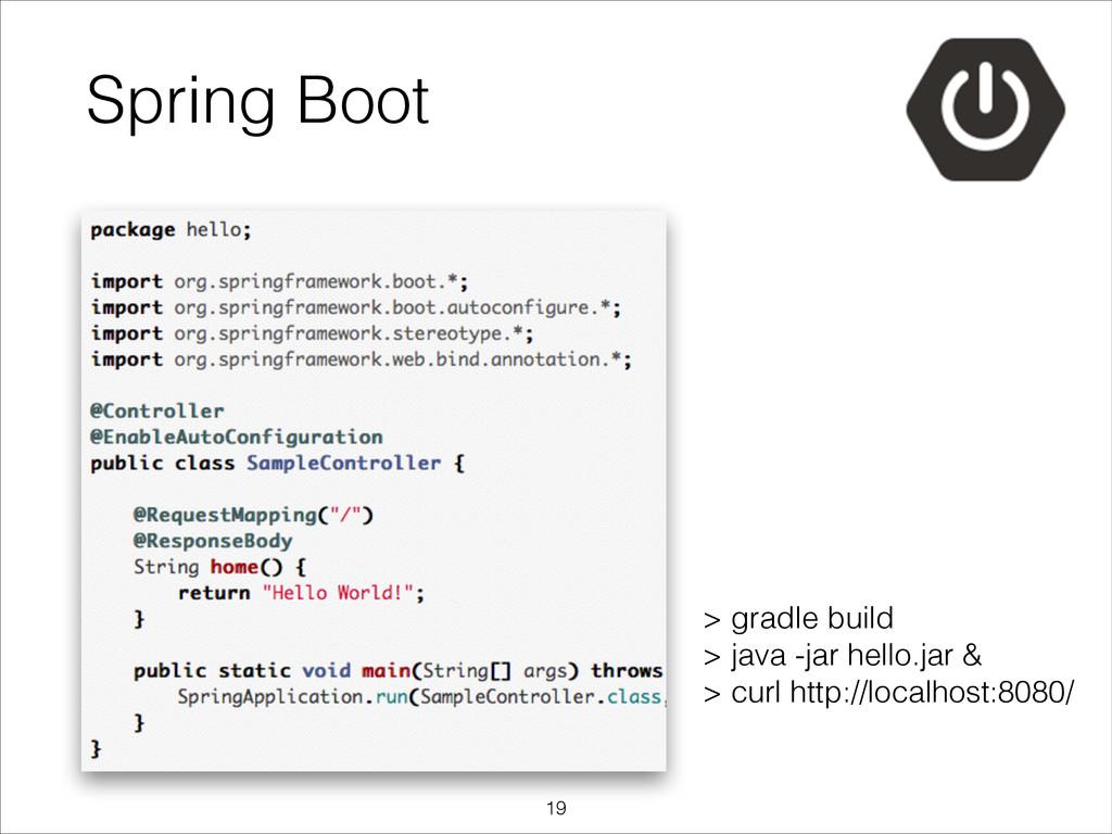 Spring Boot > gradle build > java -jar hello.j...