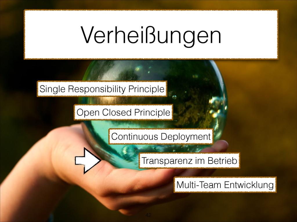 Verheißungen Single Responsibility Principle Op...