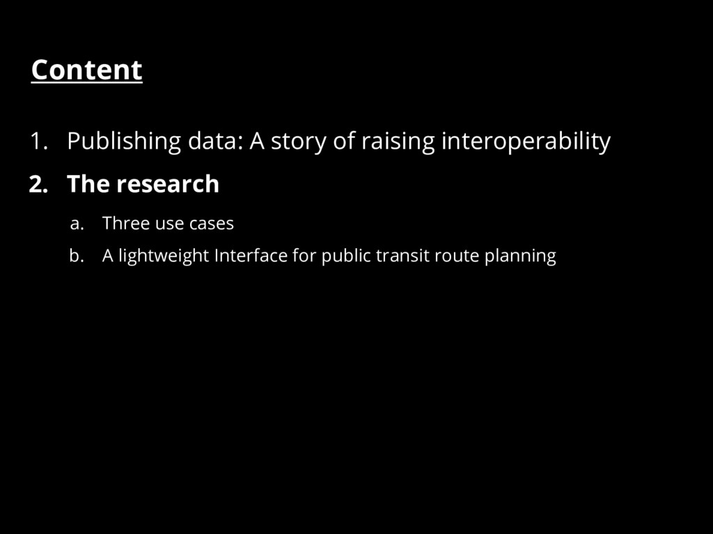 Content 1. Publishing data: A story of raising ...