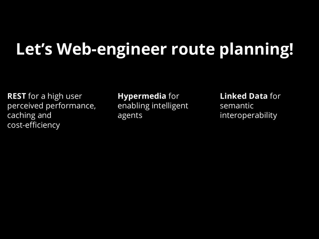 Let's Web-engineer route planning! REST for a h...