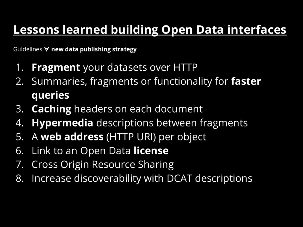 Lessons learned building Open Data interfaces 1...