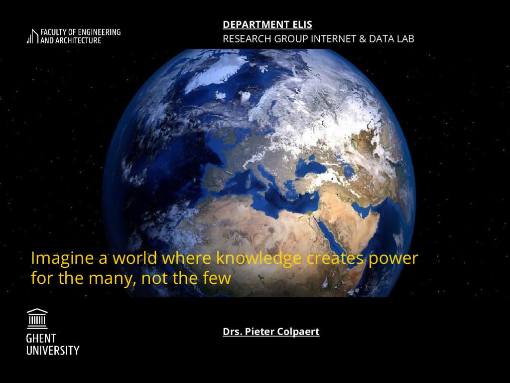 Imagine a world where knowledge creates power f...