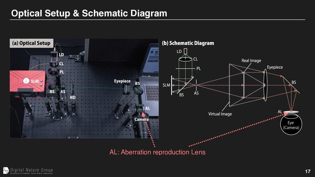 17 Optical Setup & Schematic Diagram AL: Aberra...