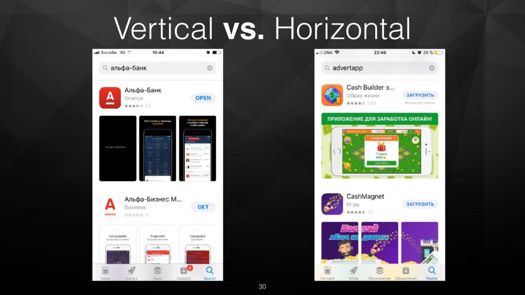 Vertical vs. Horizontal 30