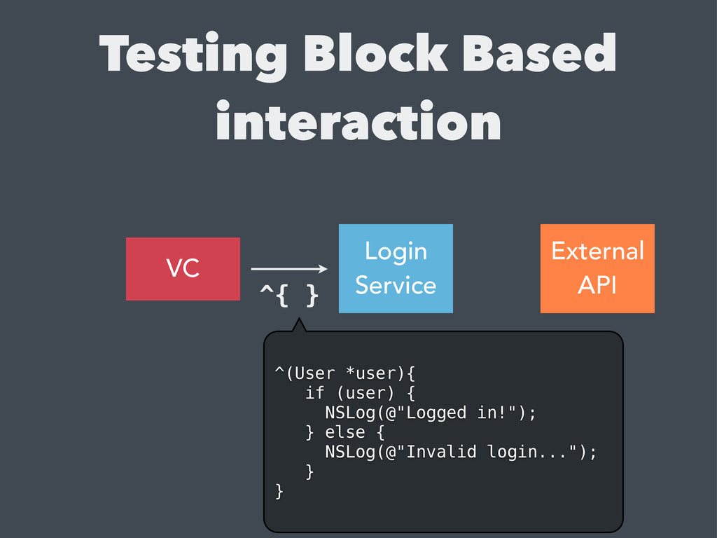 Testing Block Based interaction VC Login Servic...