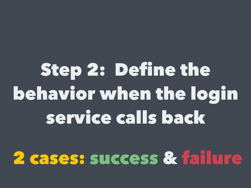 Step 2: Define the behavior when the login serv...
