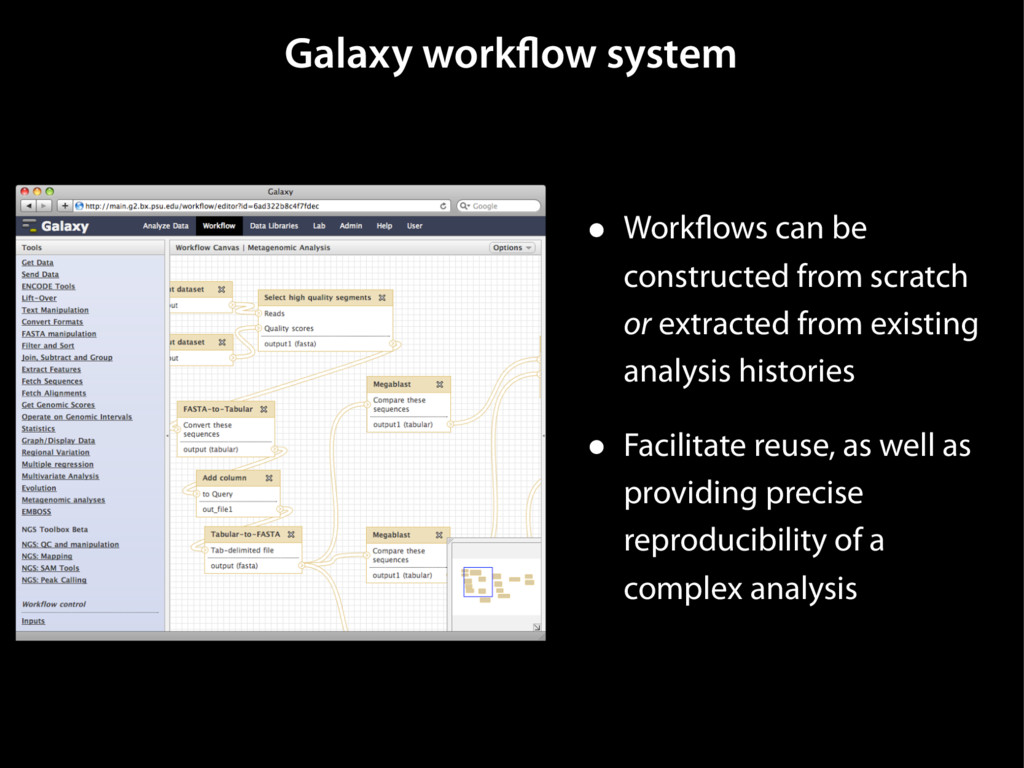 Galaxy workflow system • Workflows can be const...