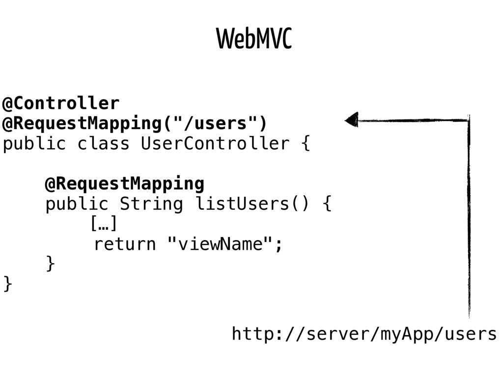 "WebMVC @Controller @RequestMapping(""/users"") pu..."
