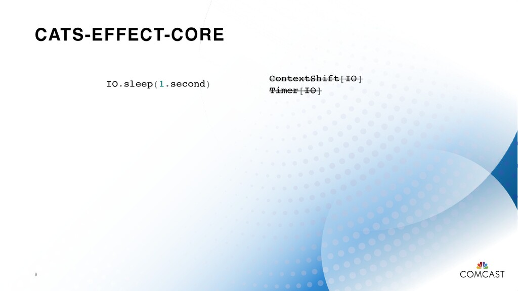 CATS-EFFECT-CORE 9 IO.sleep(1.second) ContextSh...