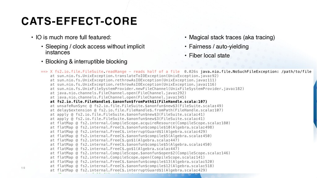 CATS-EFFECT-CORE 1 0 • IO is much more full fea...