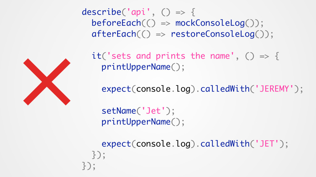 describe('api', () => { beforeEach(() => mockCo...