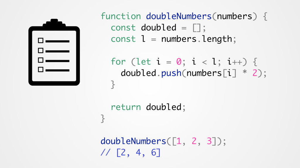 function doubleNumbers(numbers) { const doubled...