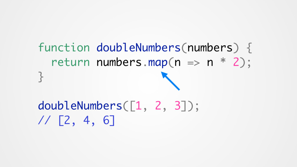 function doubleNumbers(numbers) { return number...