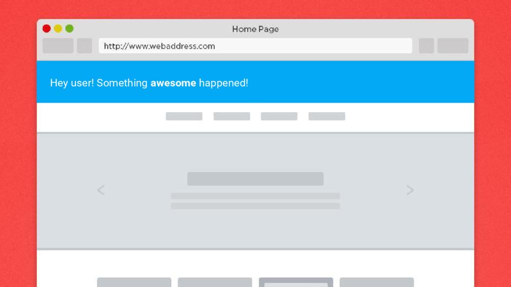 Hey user! Something awesome happened!