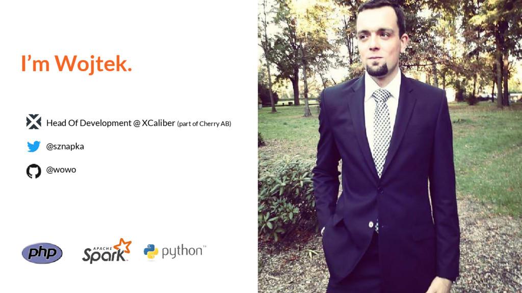 I'm Wojtek. Head Of Development @ XCaliber (par...