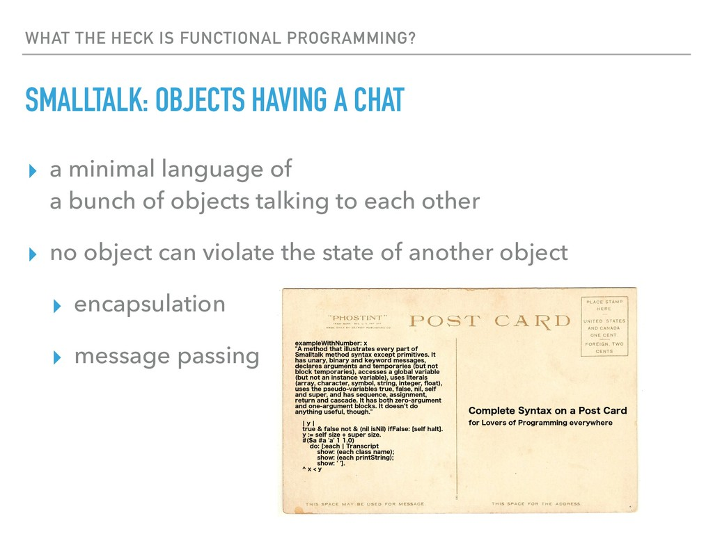 WHAT THE HECK IS FUNCTIONAL PROGRAMMING? SMALLT...