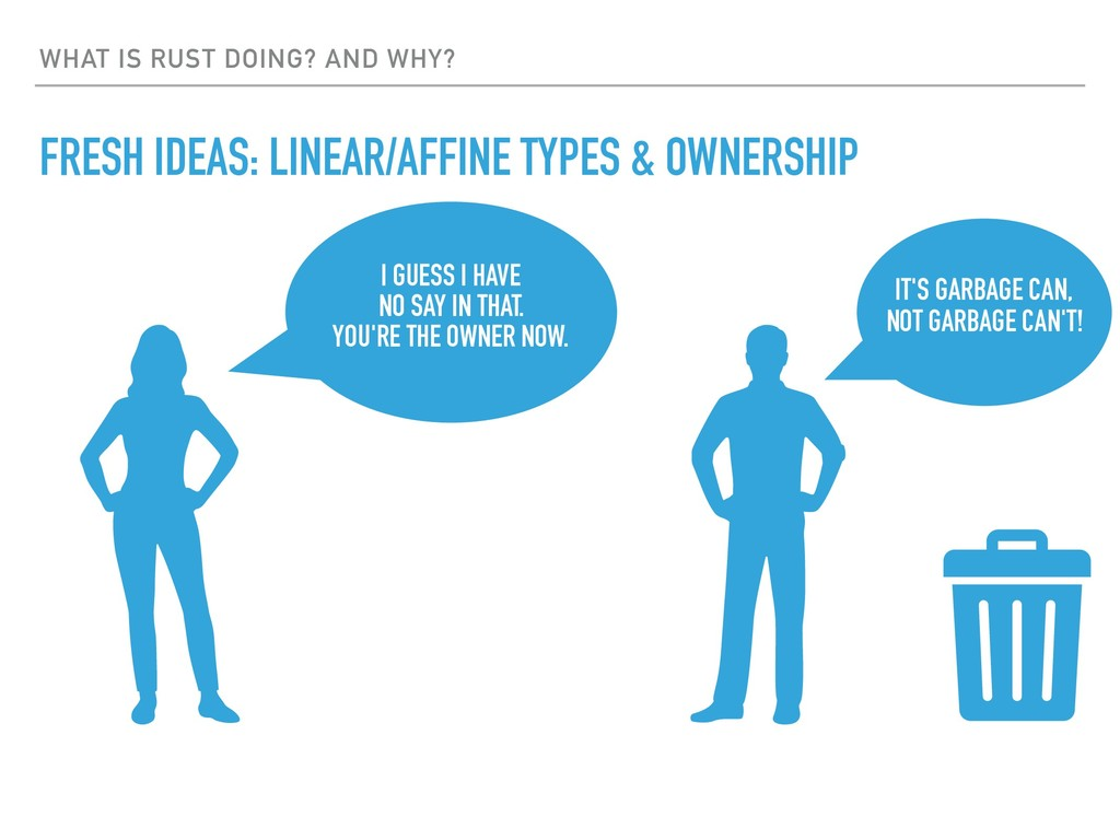 WHAT IS RUST DOING? AND WHY? FRESH IDEAS: LINEA...