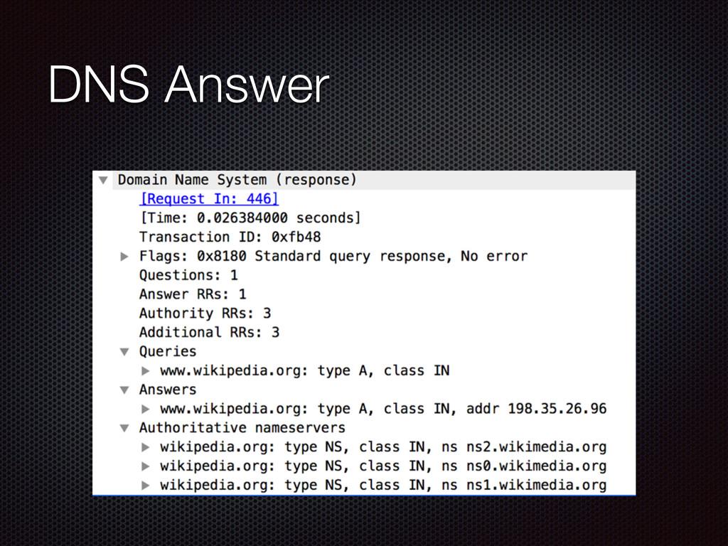 DNS Answer