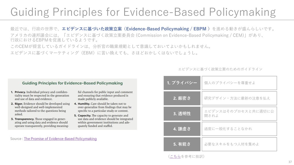 Guiding Principles for Evidence-Based Policymak...