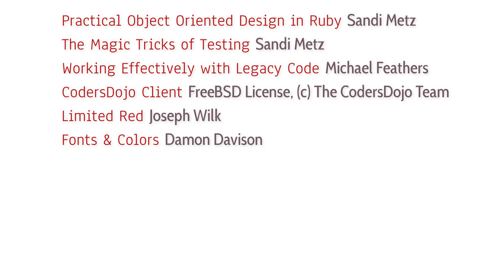 Practical Object Oriented Design in Ruby Sandi ...