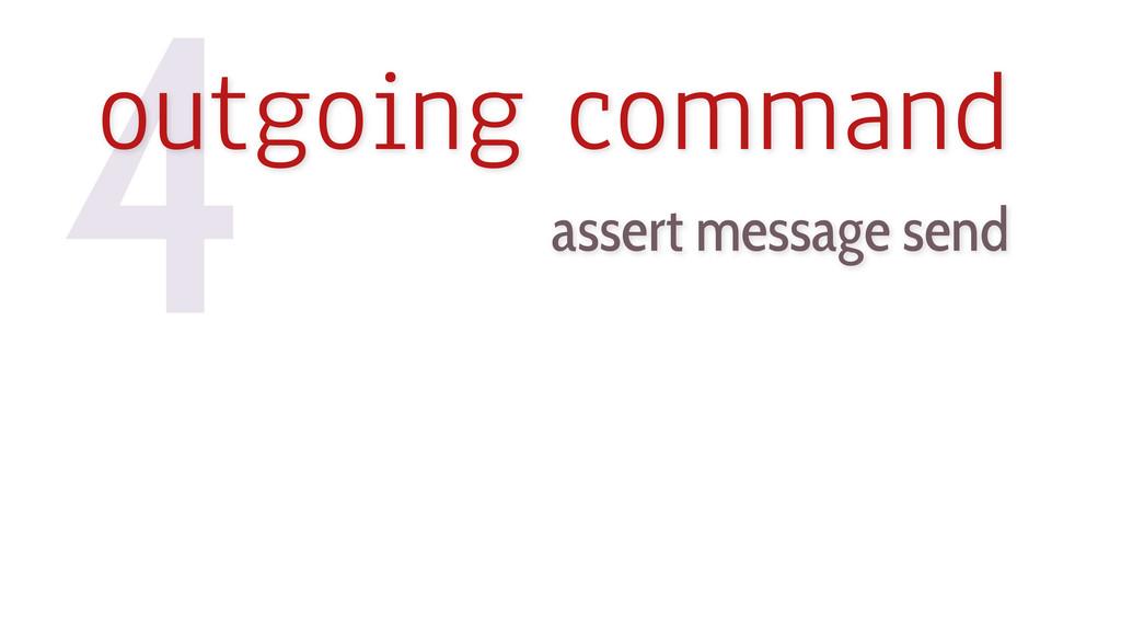 assert message send 4 outgoing command