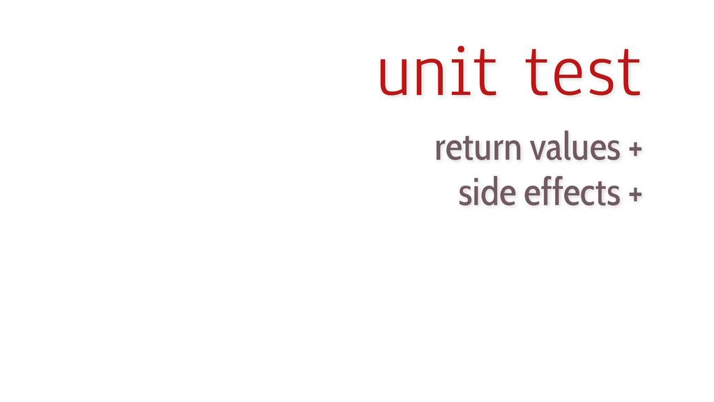 unit test return values + side effects +