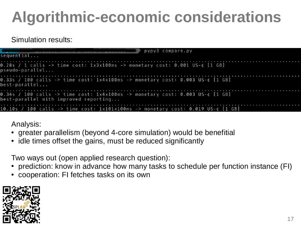 17 Algorithmic-economic considerations Simulati...